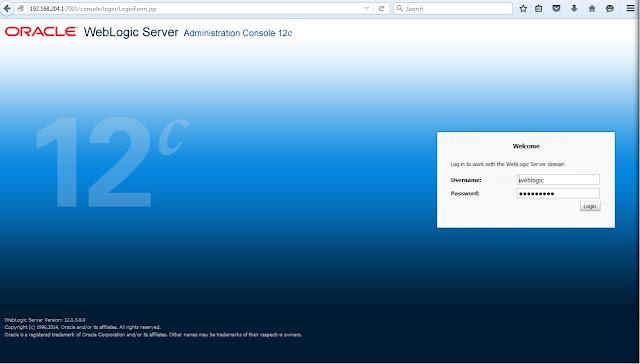 Administration Console WebLogic 12c