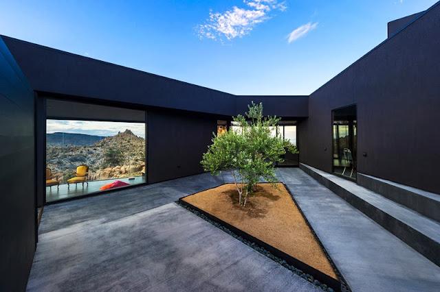 Minimalismus Design in Kalifornia: Haus und Wohnen in Schwarz