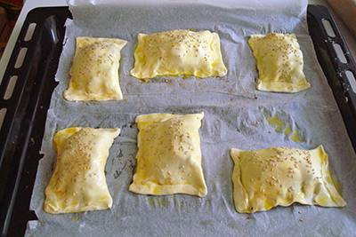 Fagottini melanzane e mozzarella 10