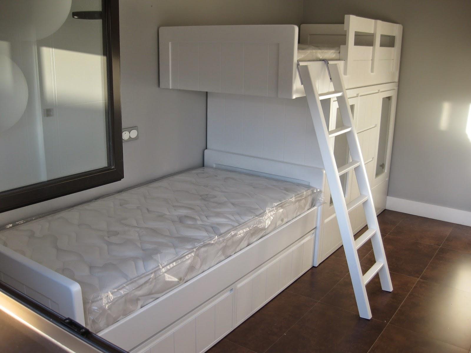 T dise as t decides camas tipo tren con armario de cajones y puertas - Cama tipo tren ...