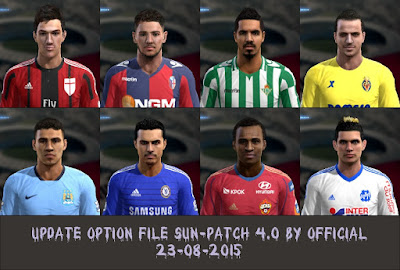 PES 2013 Update Option File SUN-Patch 4.0 #23/08/2015 by Official