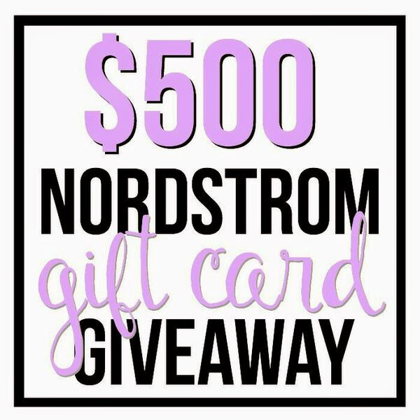 Enter to win a $500 Nordstrom Gift Card!