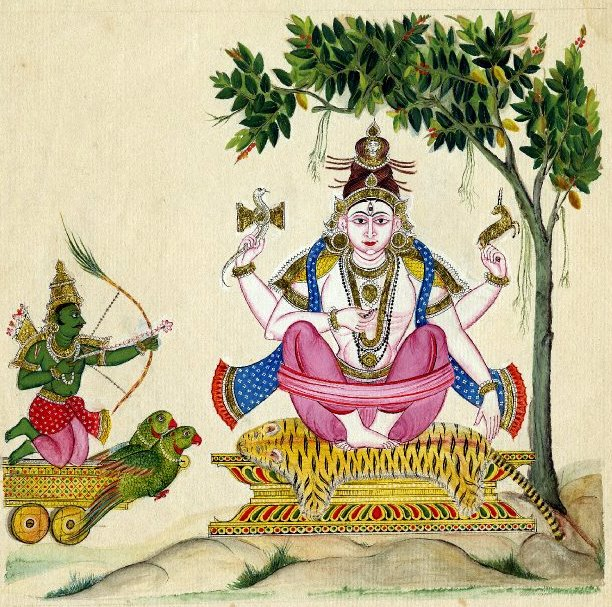 kama, shiva Il dio Kama insidia Shiva - autore gnoto ekamsatindia.blogspot.it © dell'autore