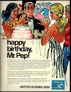 Yázigi, propaganda década de 70. Oswaldo Hernandez. anos 70. Reclame anos 70 .