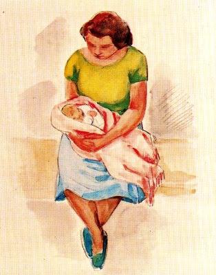 Dona amb nadó (Enric Cristòfor Ricart i Nin)