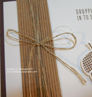 Close-up of Stampin'UP!'s Corrugated paper