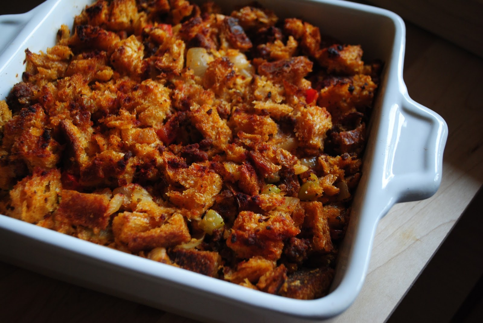 Winter Side Dish: Chorizo Stuffing | The Enchanted Spoon