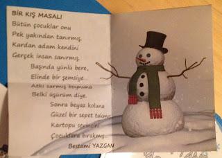 Güneş gözlük takınca kitabındaki bir kar masalı şiiri