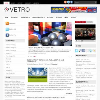 Vetro blog template. template image slider blog. magazine blogger template style. wordpress theme to blogger. template blog 3 column