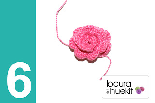 Tutorial flor crochet en relieve