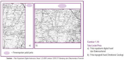 Komponen atau Kelengkapan Peta