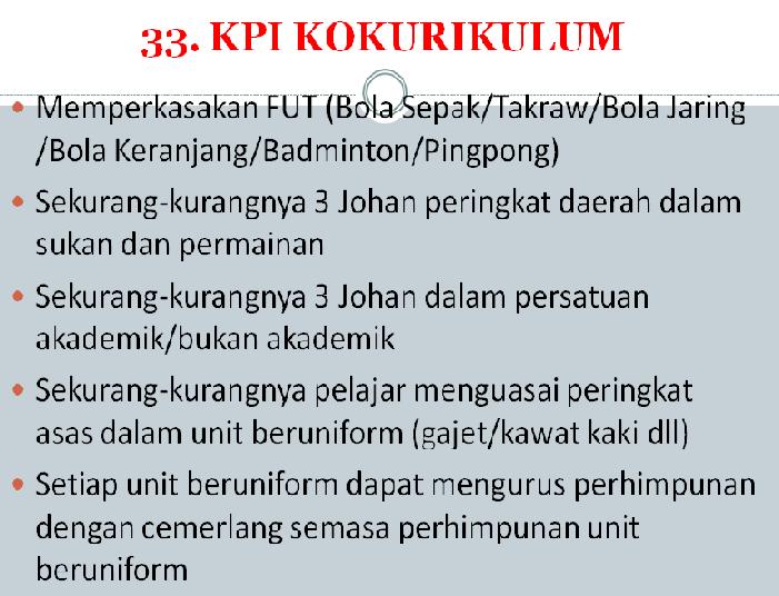 KPI KOKURIKULUM