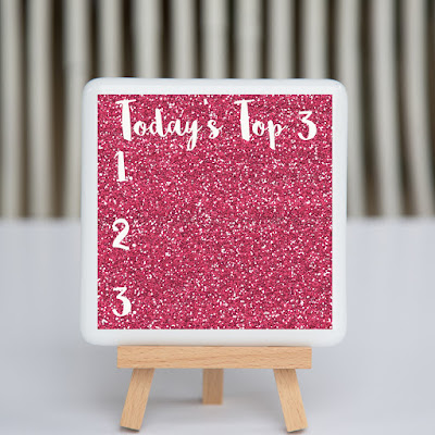 today's top 3, coaster, fusography, fused glass, sassy glass studio, motivational quote, organization, creative entreprenuer