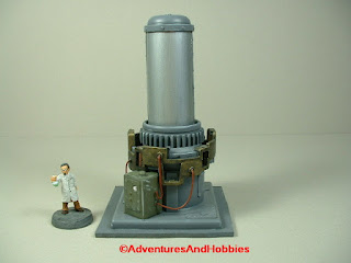 Mad science lab equipment containment tower - side view 2