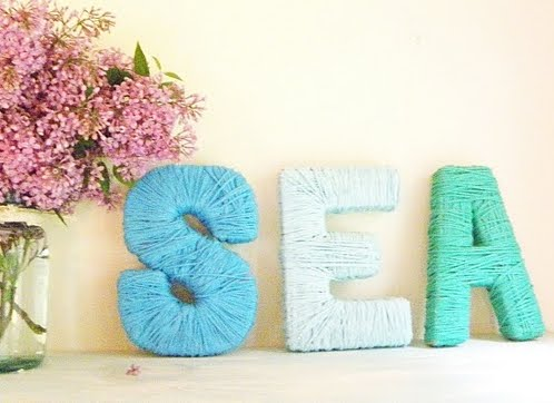 yarn wrapped sea letters