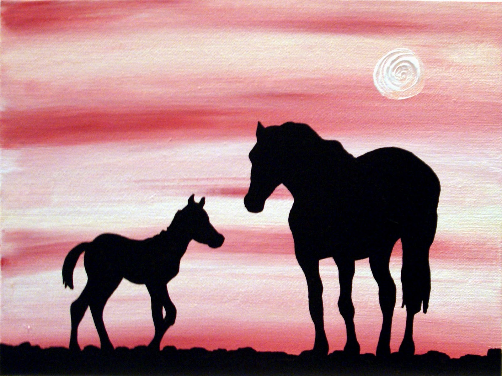33   Cool Silhouette Painting Of for Silhouette Painting Of Animals  156eri