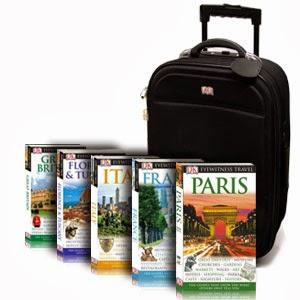 Guias de viagem impressos de diversas partes do mundo