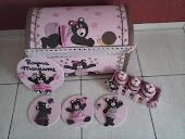 Kit para menina marron e rosa