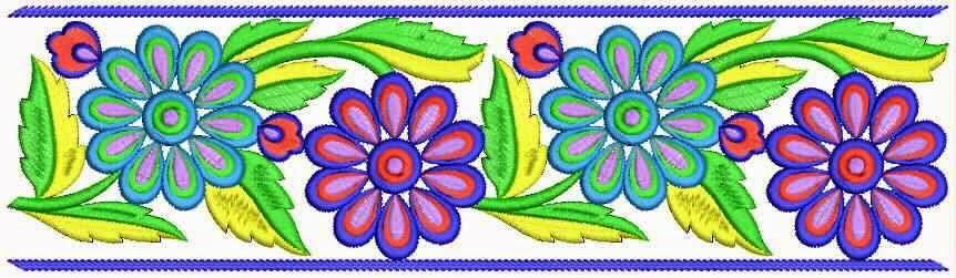 kleurvolle kant grens ontwerp