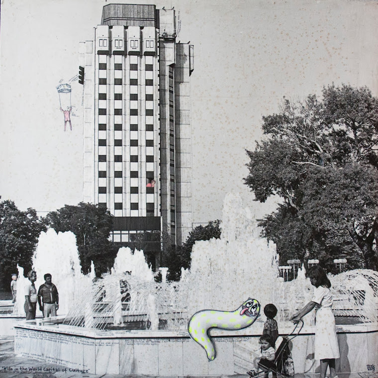 Kido in the  World Capital of Culture, 2013, photography and acrylic paint on board, 85 х 85 cm