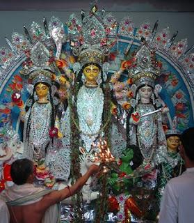 Durga Puja Photo Guru Ganga Old home Dakshineswar Kolkata