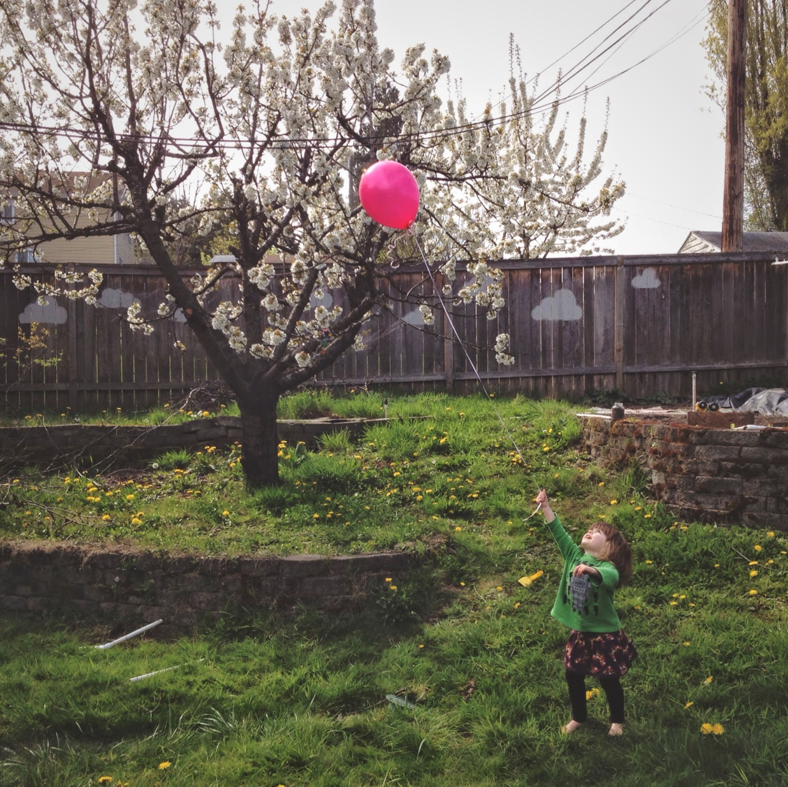 balloon pink lost fly away
