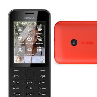 Nokia 208 Ponsel 3.5G Dengan Kamera 1.3 MP