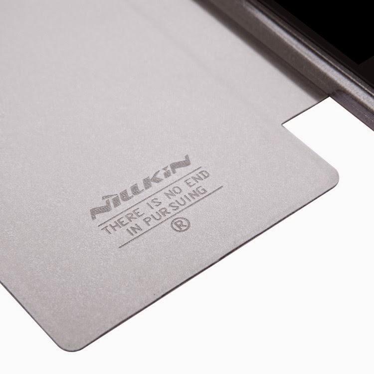 Leather-Folio-Case-BlackBerry-Z3-Nillkin-Fresh-Series-View-Window-Black