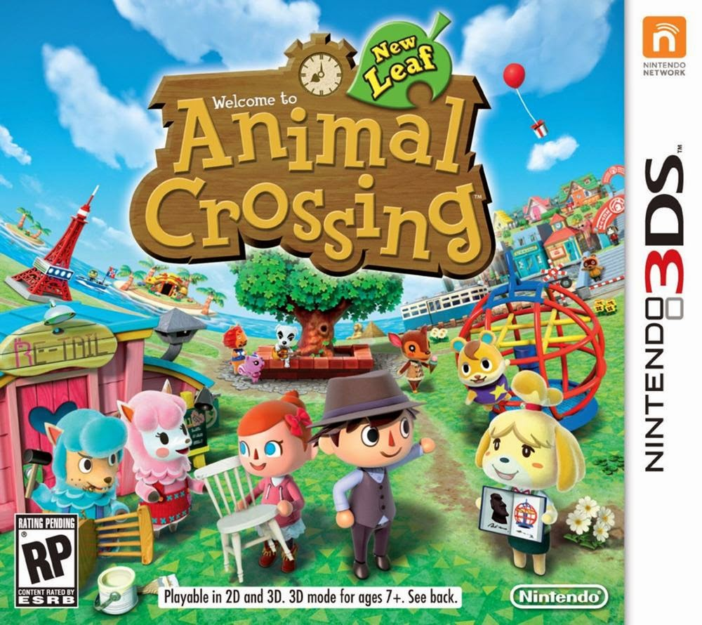 3DS Animal Crossing New Leaf Cover