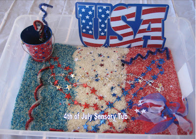 4th of July Sensory bin for Toddlers