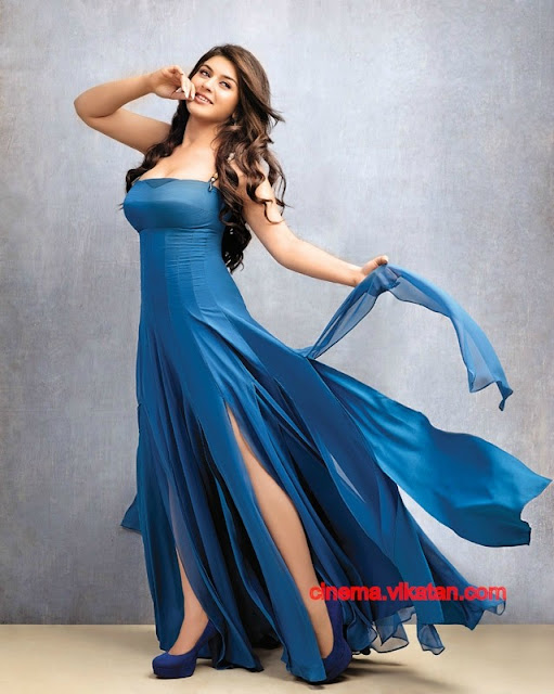 Hansika Motwani in blue gown dress1 -  Hansika Motwani Latest Hot Photoshoot Pics - 2012