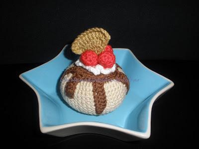 Pastelito realizado a crochet