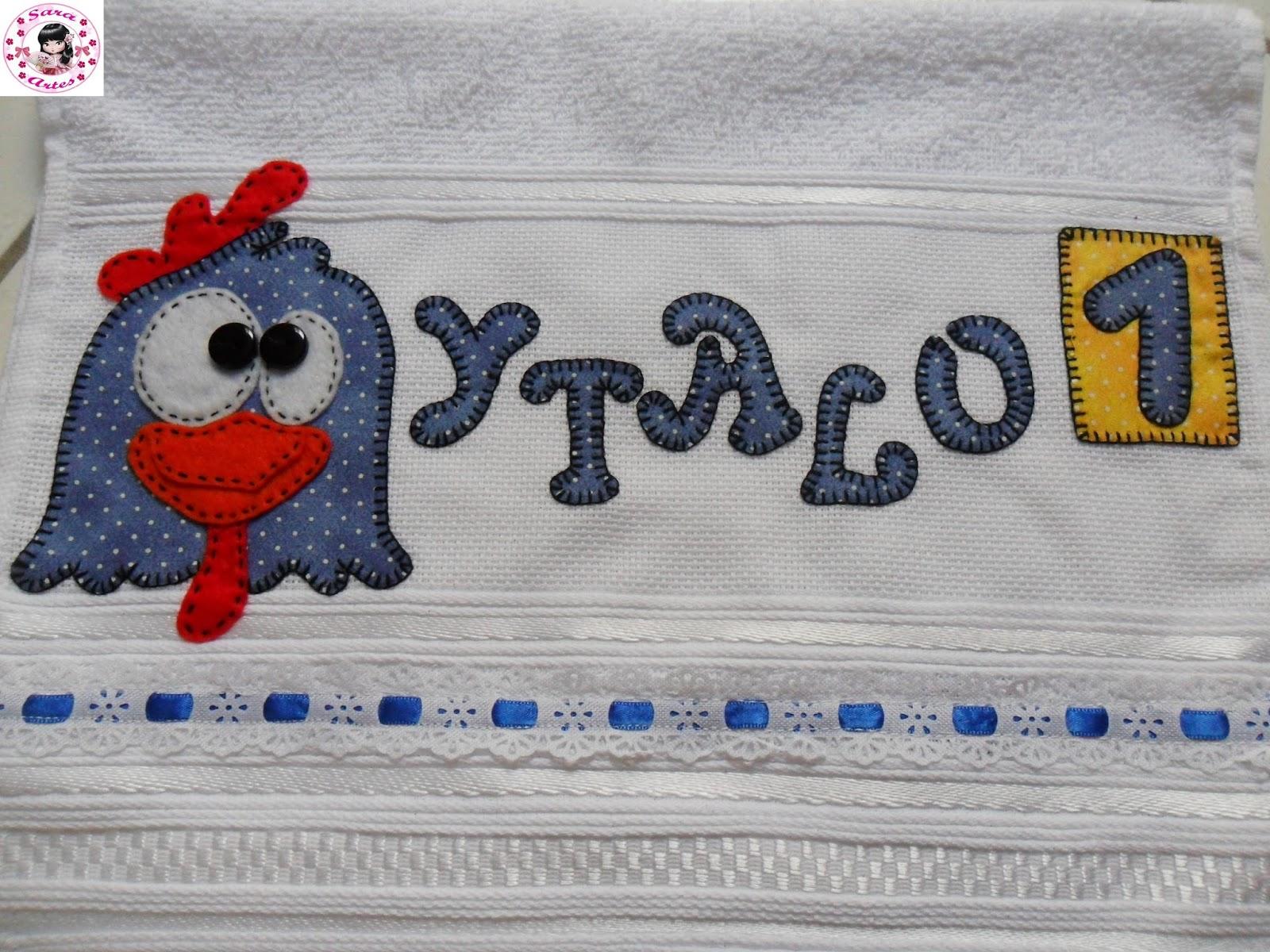 Sara Artesanatos: toalha em patchaplique da galinha pintadinha