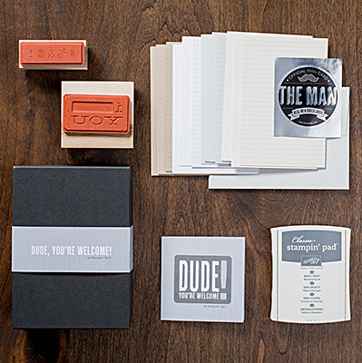 A Stamp Set for Men!!  Dude, You're Welcome!