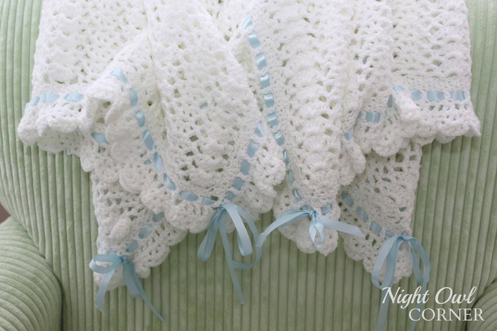 Night Owl Corner: Ribbons and Ruffles Baby Blanket