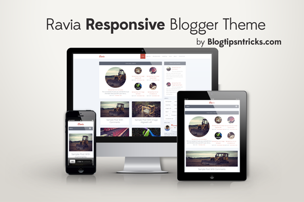 Ravia Responsive Blogger Theme Demo