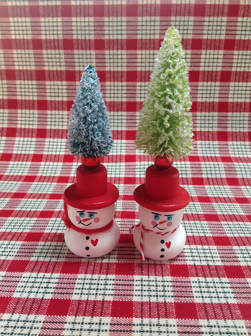 Snowman with Tree Topper.  $5 each.