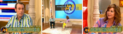 Ana Rosa Quintana y Antonio Molero en un capítulo de 'Los Serrano'