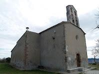 Les façanes de ponent i nord de l'església de Santa Magdalena de l'Espelt