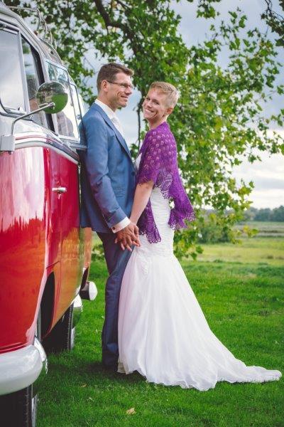 Een tevreden klant en gelukkig bruidspaar!