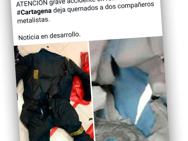 Incendio en la planta de crudo en la Refinería de Cartagena deja dos trabajadores con quemaduras