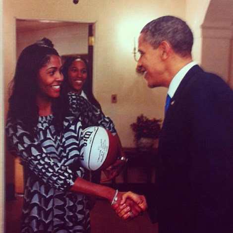 Sydney Colson meets the President