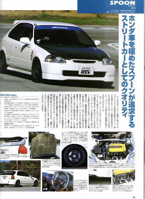 Civic ek9 spoon vtec white