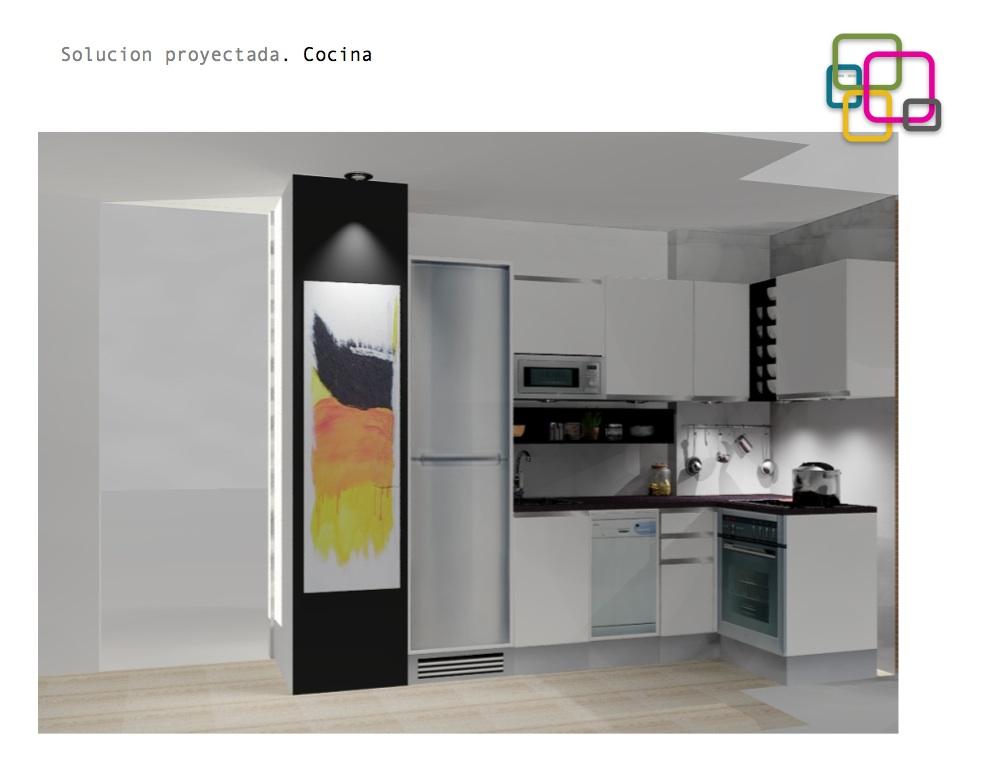 Proyectos soluciones para una cocina peque a decoraci n - Soluciones cocinas pequenas ...