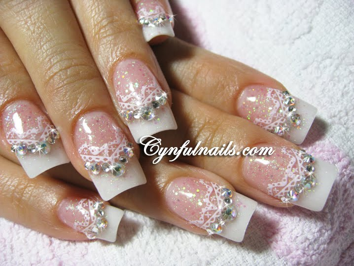 Cynful Nails: Bridal nails updated!