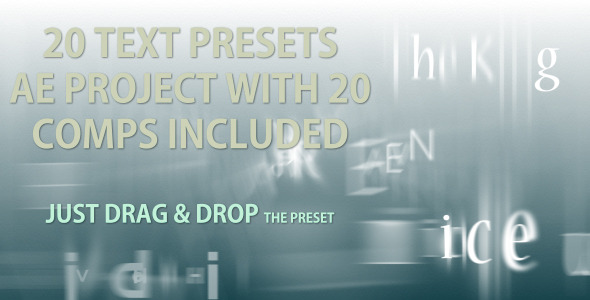 Text Presets - 20 text animation presets