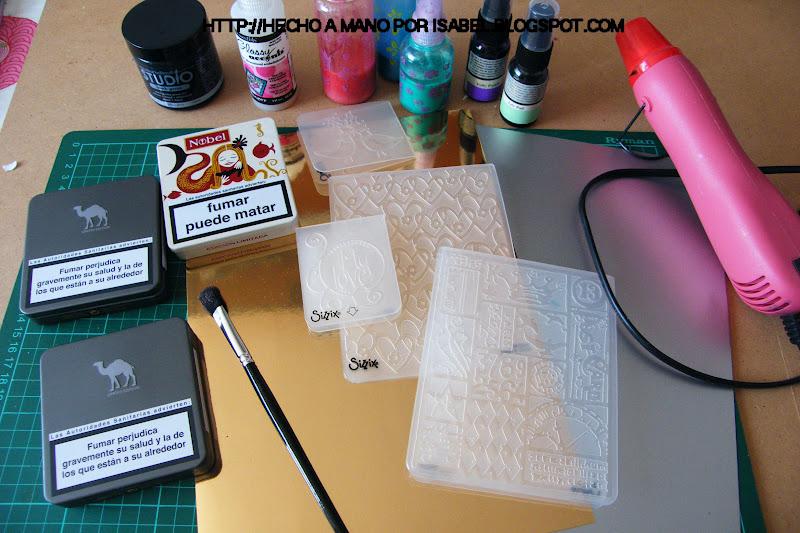 Hecho a mano por isabel reciclar latas de cigarrillos - Manualidades pintar caja metal ...