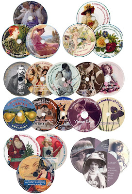 Lunagirl Vintage Images craft CDs vintage photos cards art