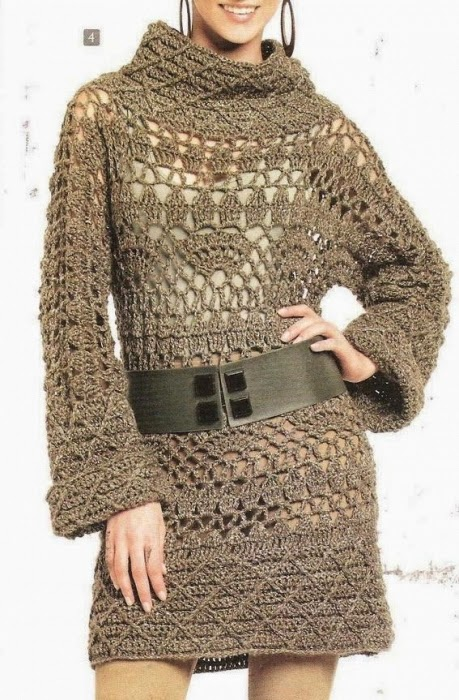 Crochet Patterns Explained : Crochet Patterns to Try: Crochet Stunning Winter Tunic Dress - Chart ...