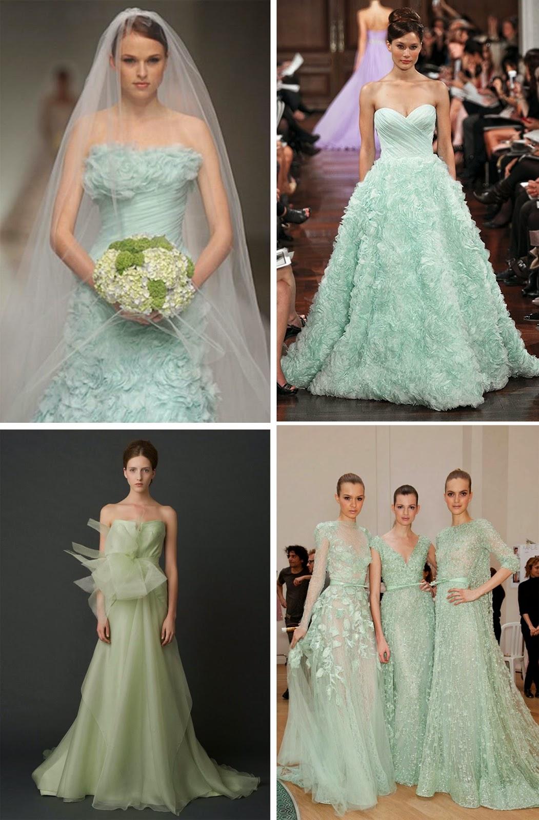 Mint Wedding Dresses 2014